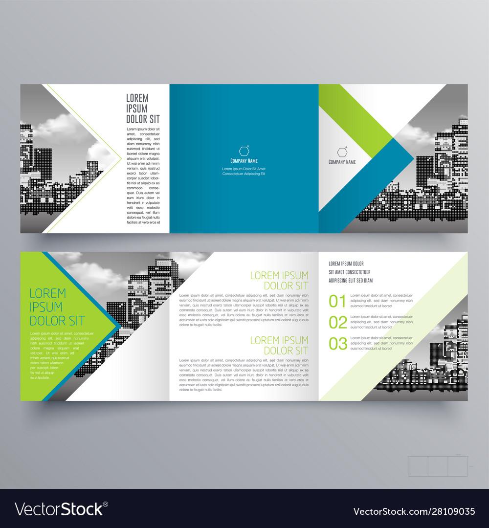 Brochure design 23 Royalty Free Vector Image - VectorStock Inside Ngo Brochure Templates
