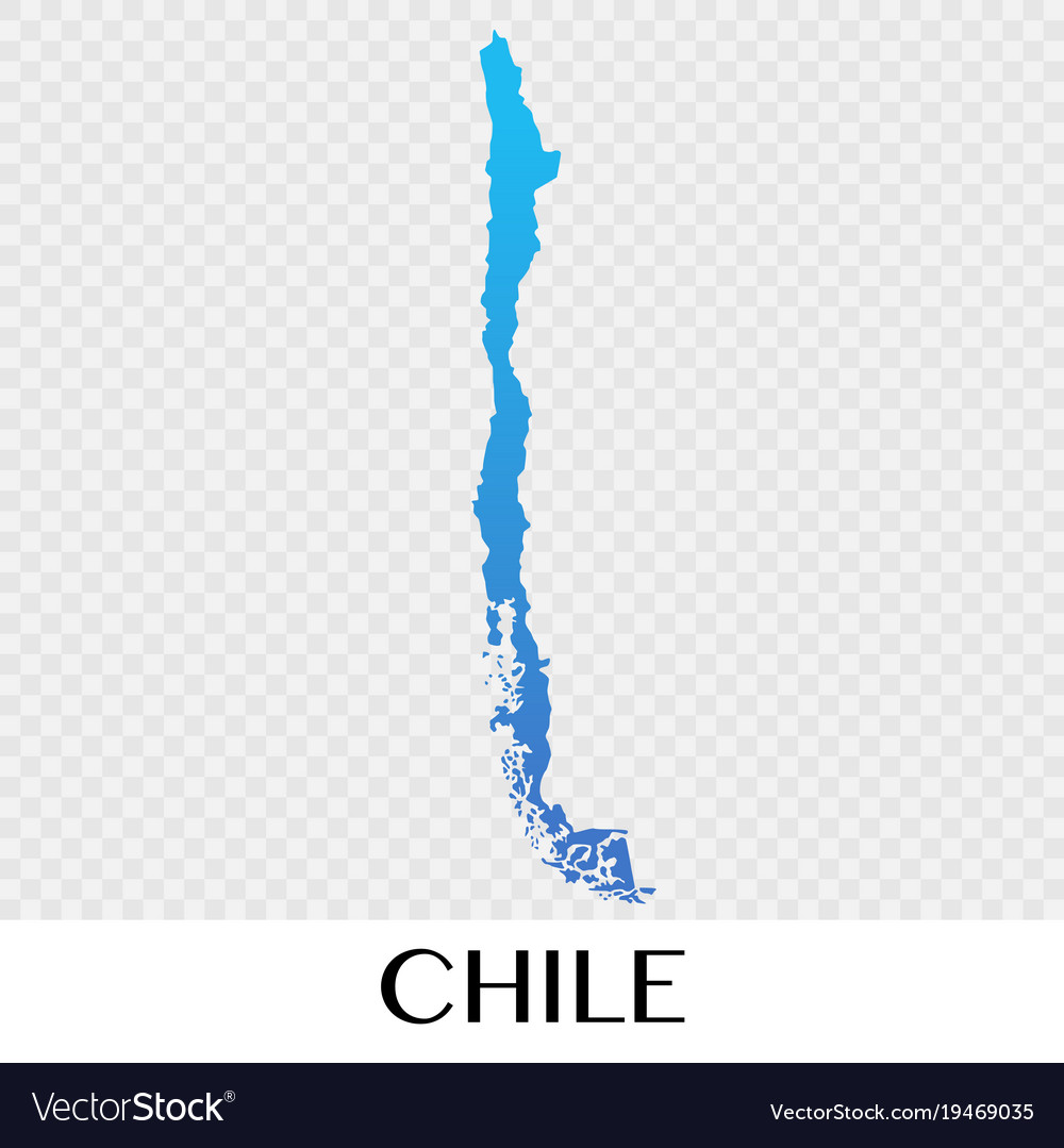 Chile map in south america continent design