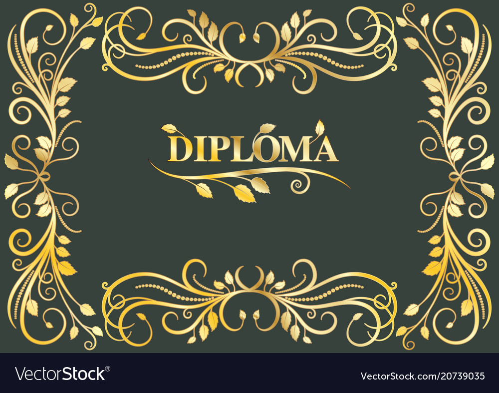 Classical diploma with golden laces