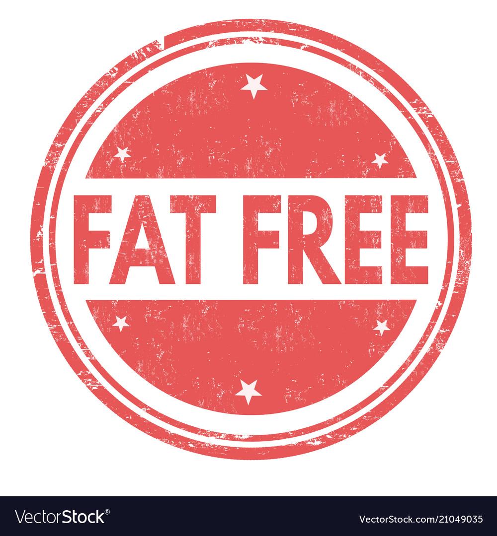 Fat free grunge rubber stamp