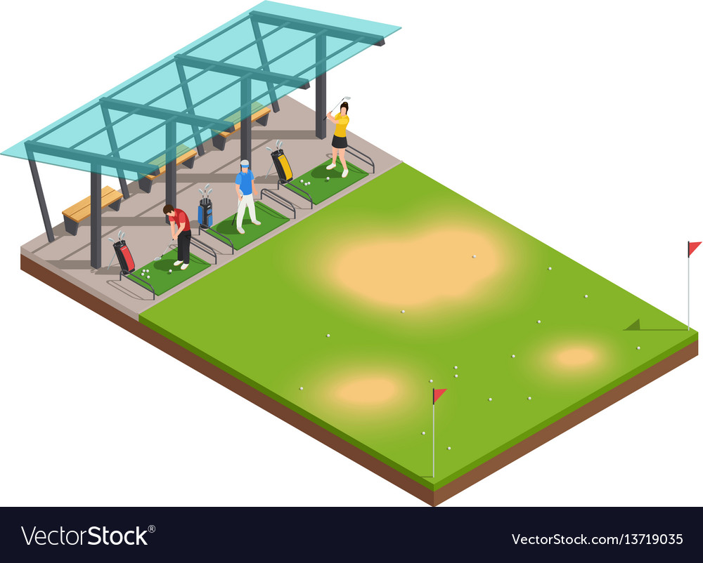 Golf training isometric composition