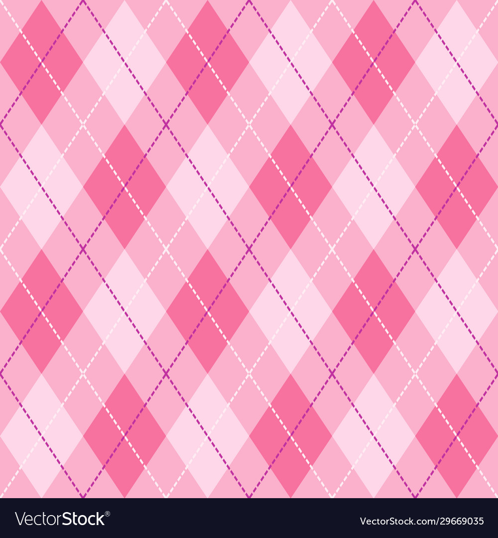 Pink violet and white seamless argyle pattern