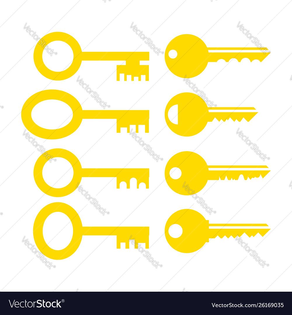 Set different yellow key icon