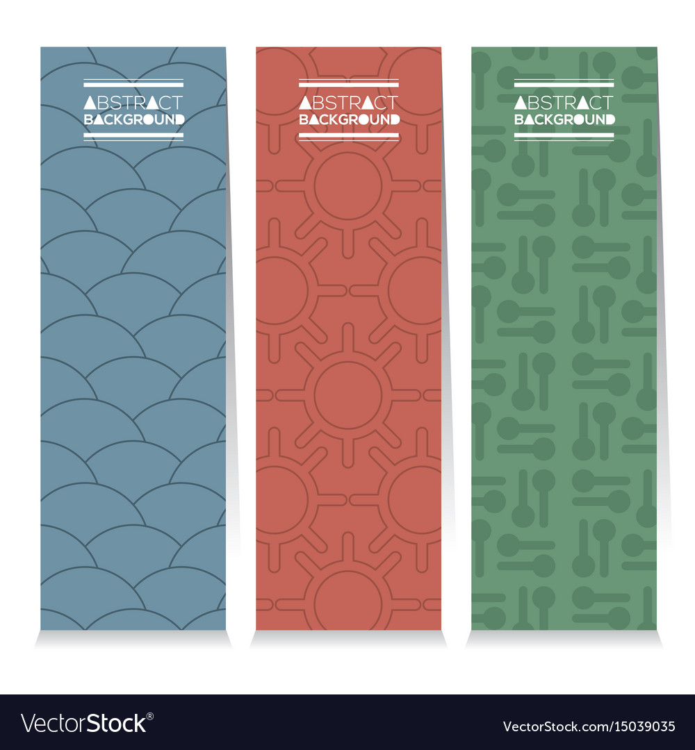 Set of different three graphic vertical banners vector image