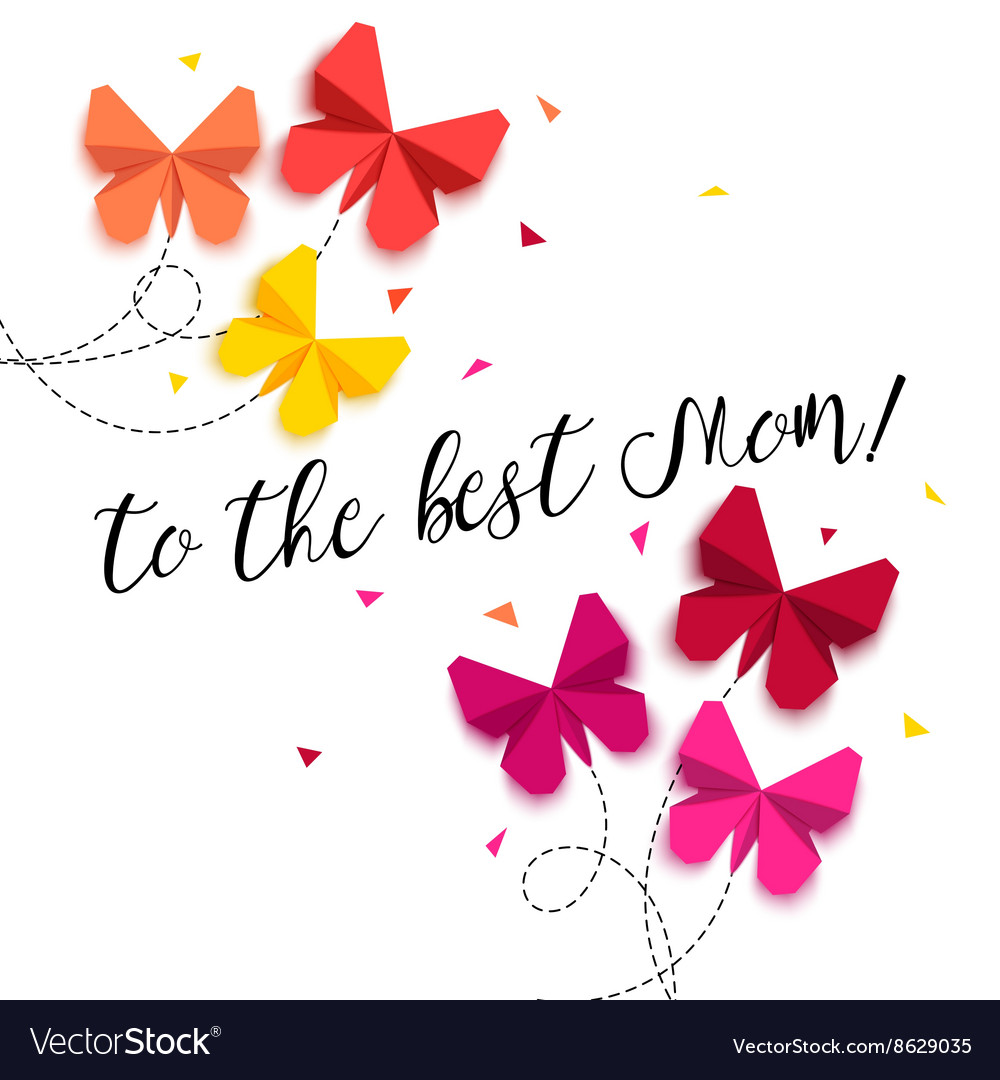 To the best mom happy mothers day greeting card vector image m4hsunfo