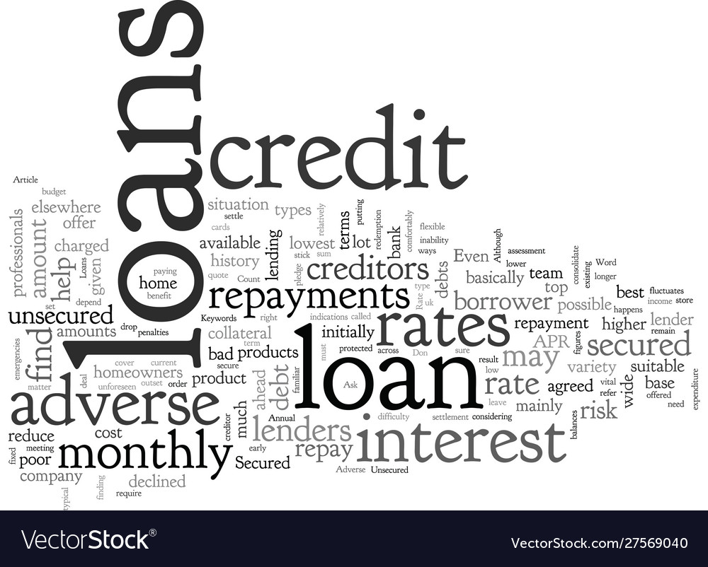 Loans For Really Bad Credit >> Adverse Credit Loans