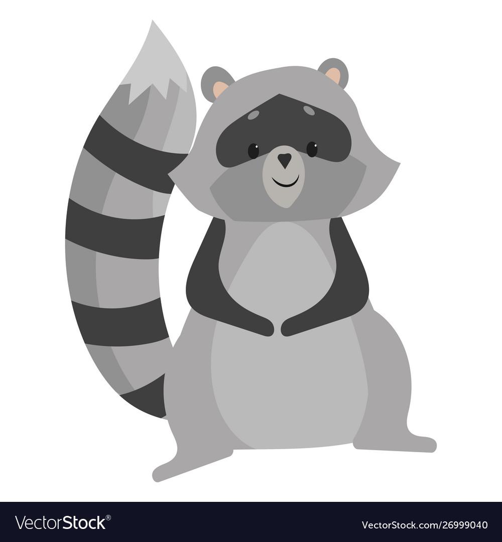 Cartoon raccoon a raccoon