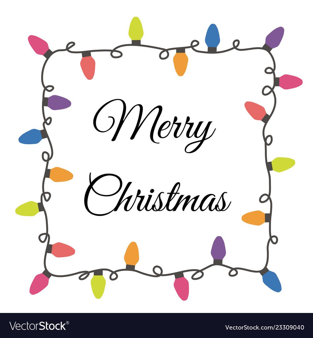 Christmas Lights Vector Free.Christmas Lights Border