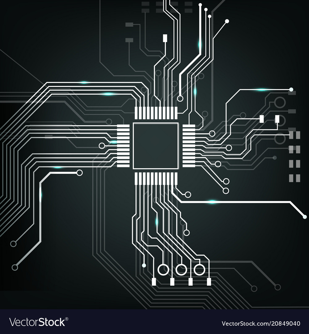 Electronic Circuit Board Royalty Free Vector Image Electric Diagram