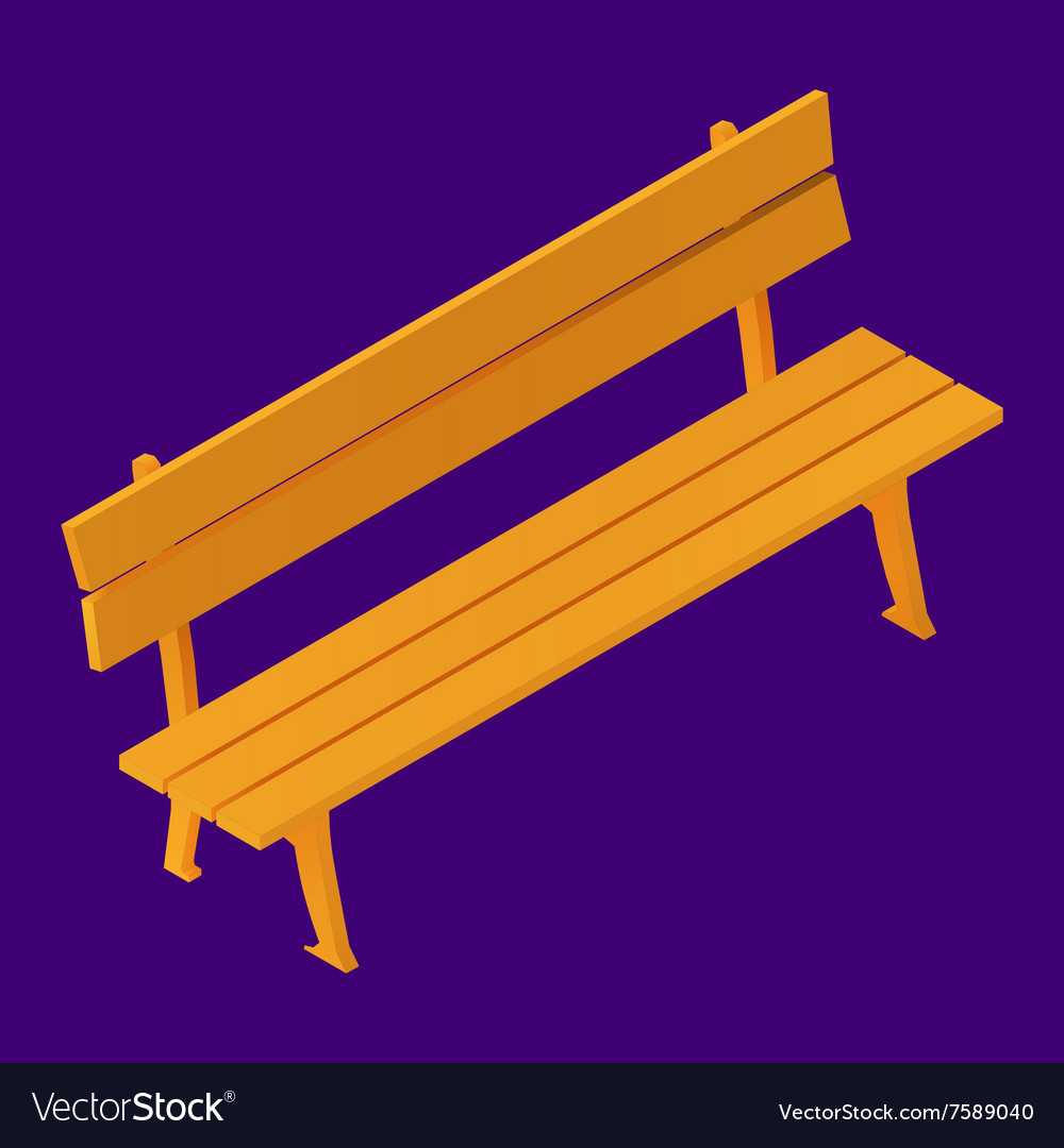 Park Bench Isolated Isometric