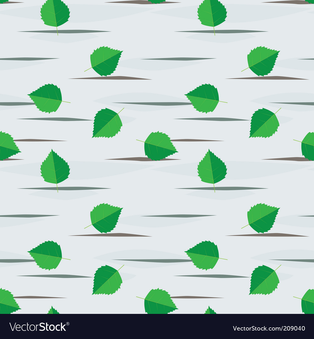 Seamless background from birch leaves vector image