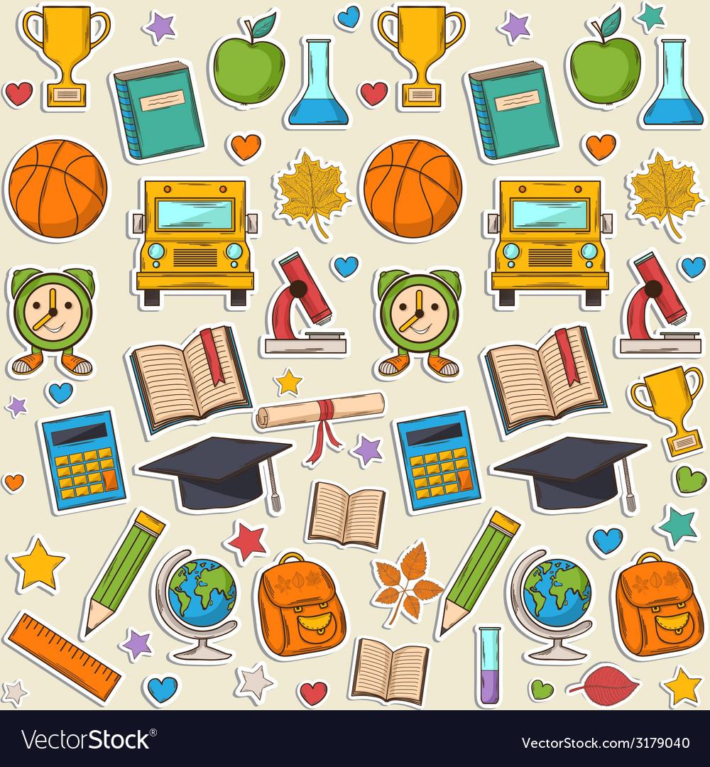Sticker school pattern