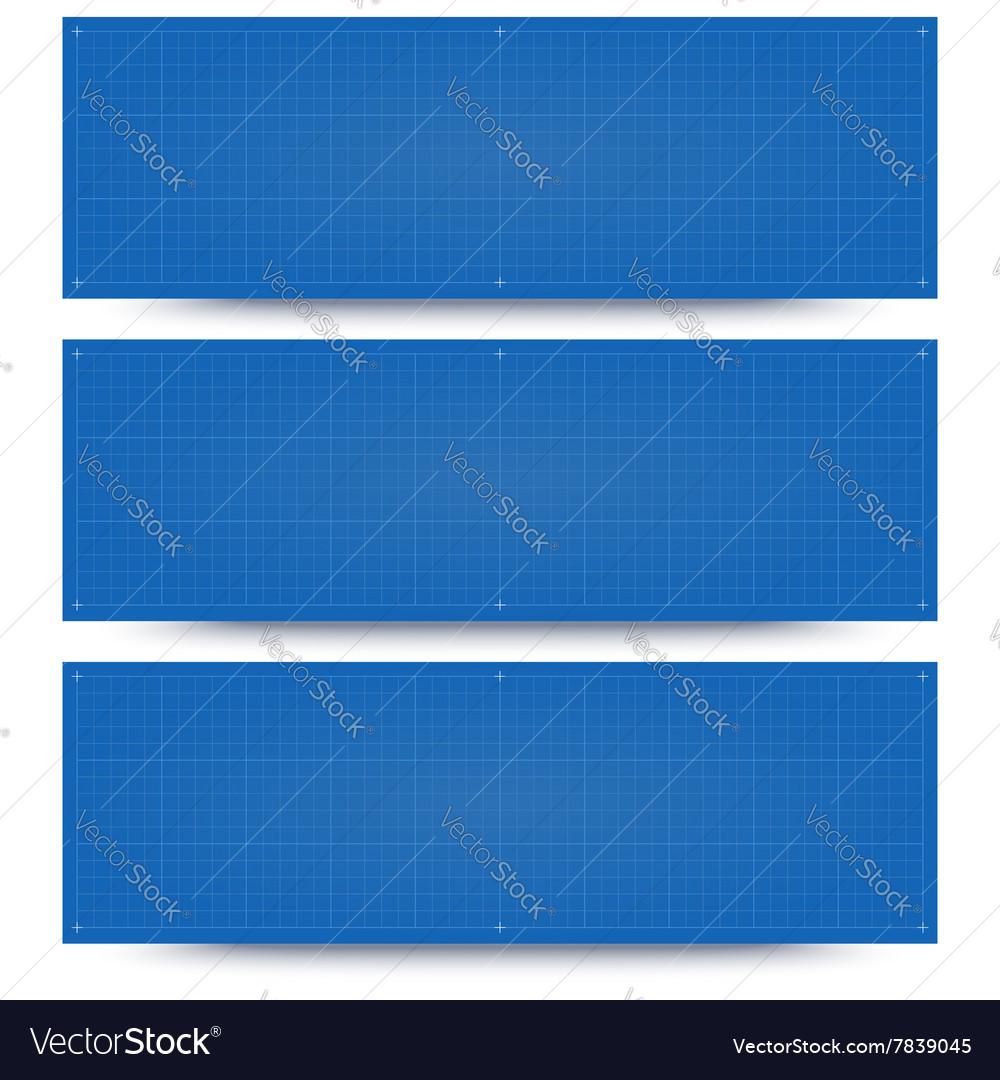 Blueprint banner backgrounds vector image