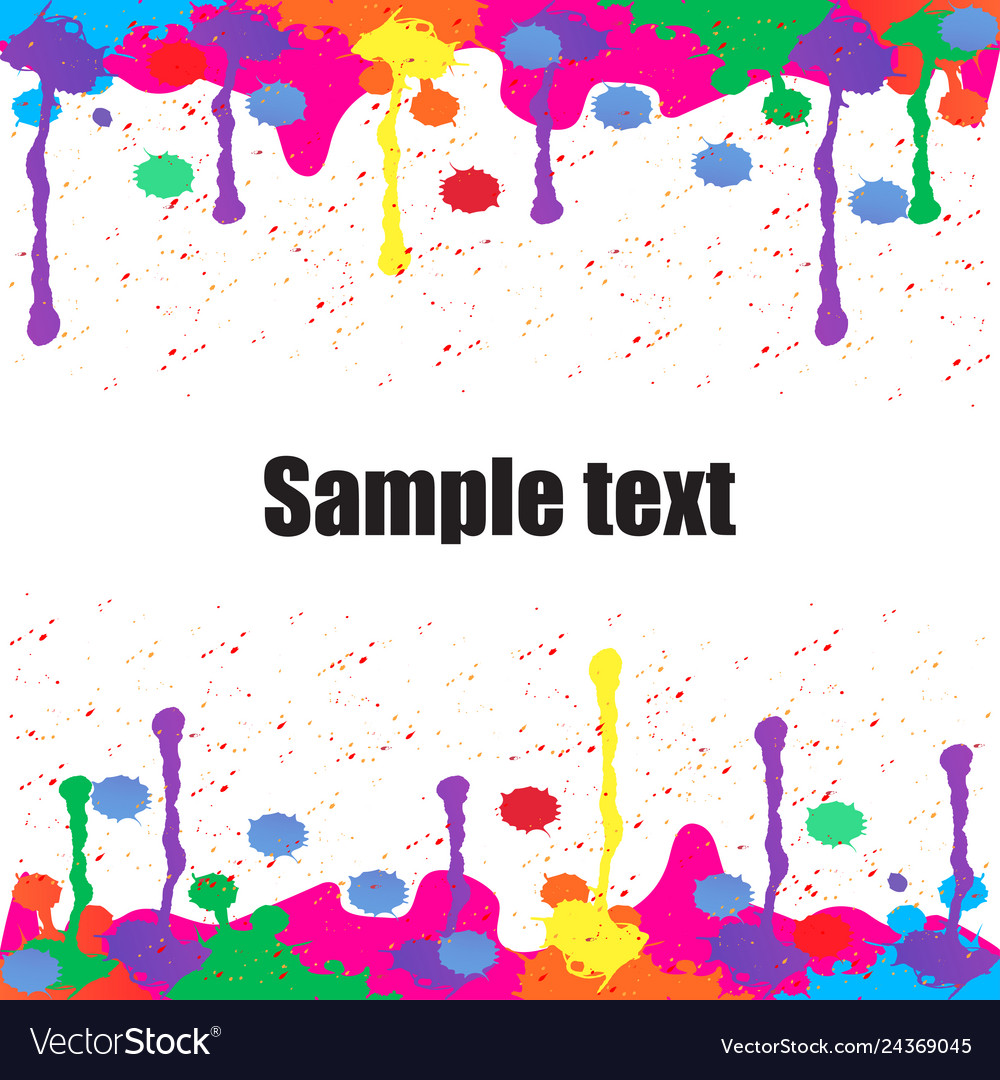 Colorful paint background for text