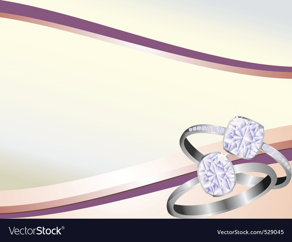 Diamond rings sparkling on pink swirl background
