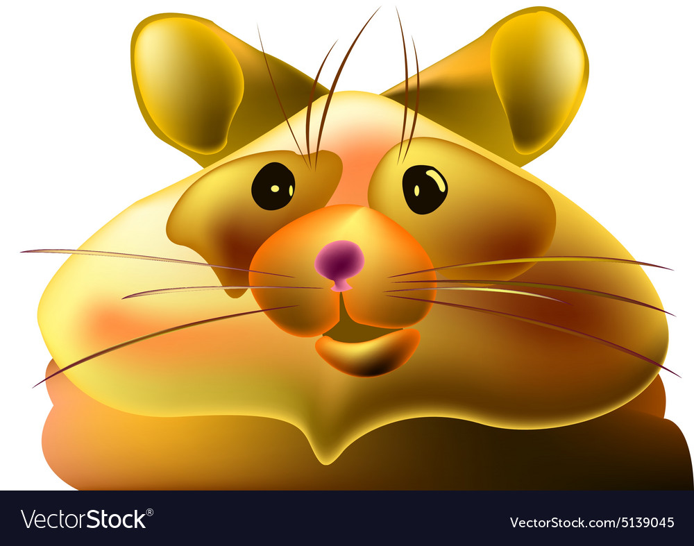 Fat hamster vector image