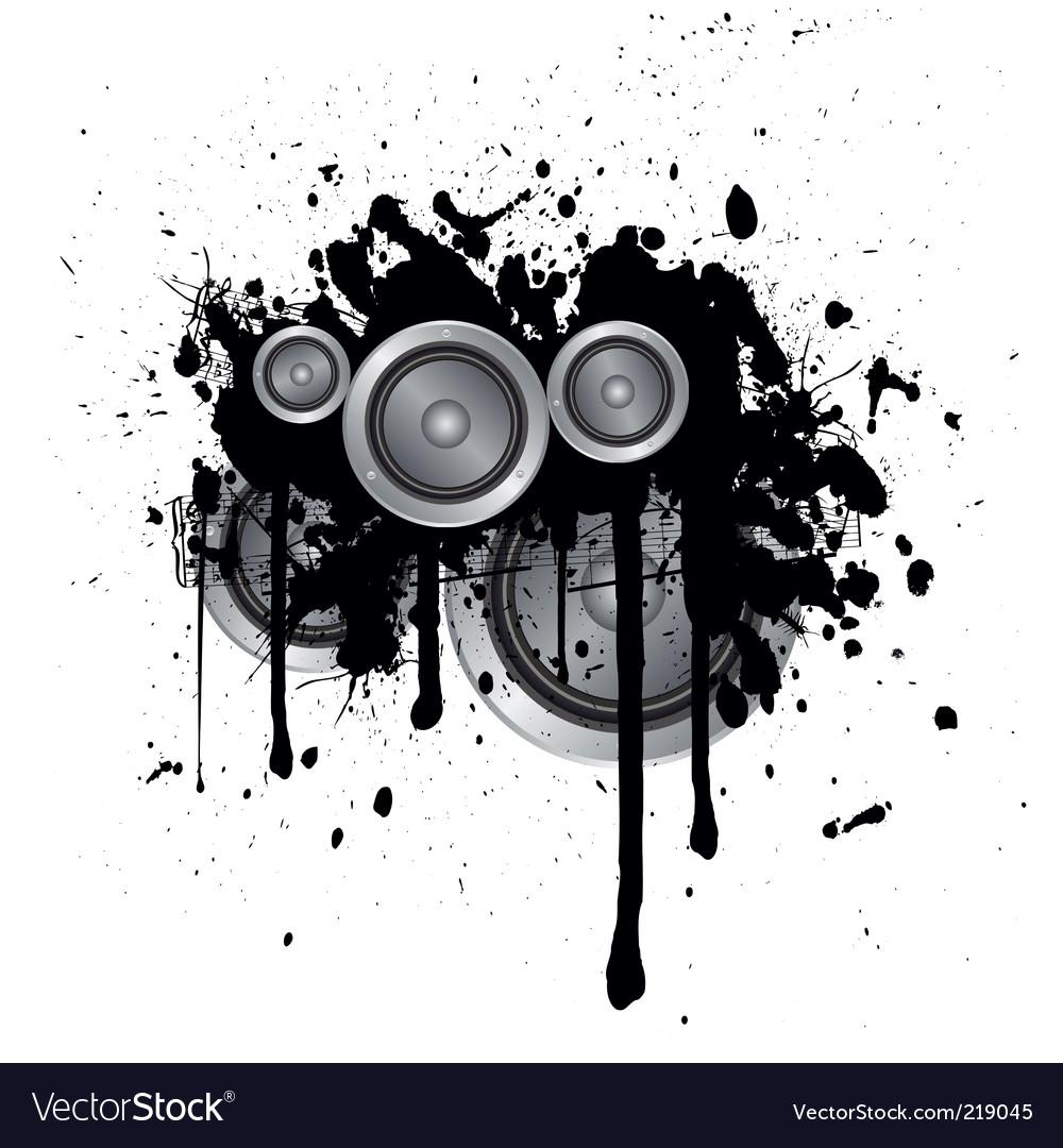 Musical splash vector image