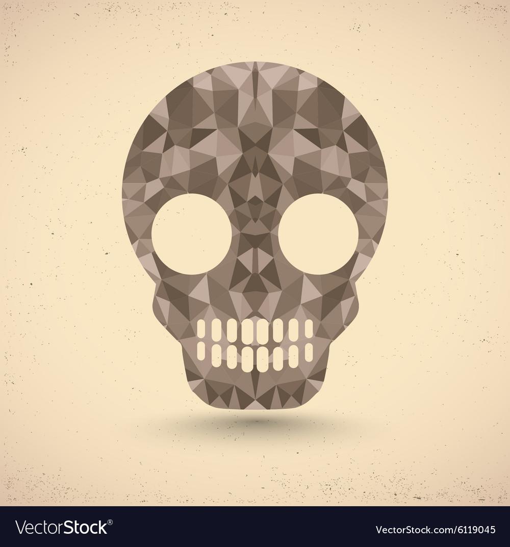Skull in retro vector image