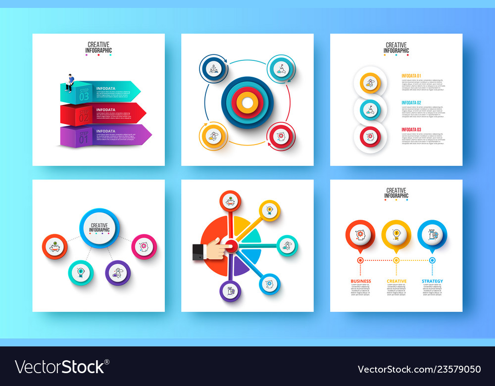Abstract elements of graph diagram with 3 4 and