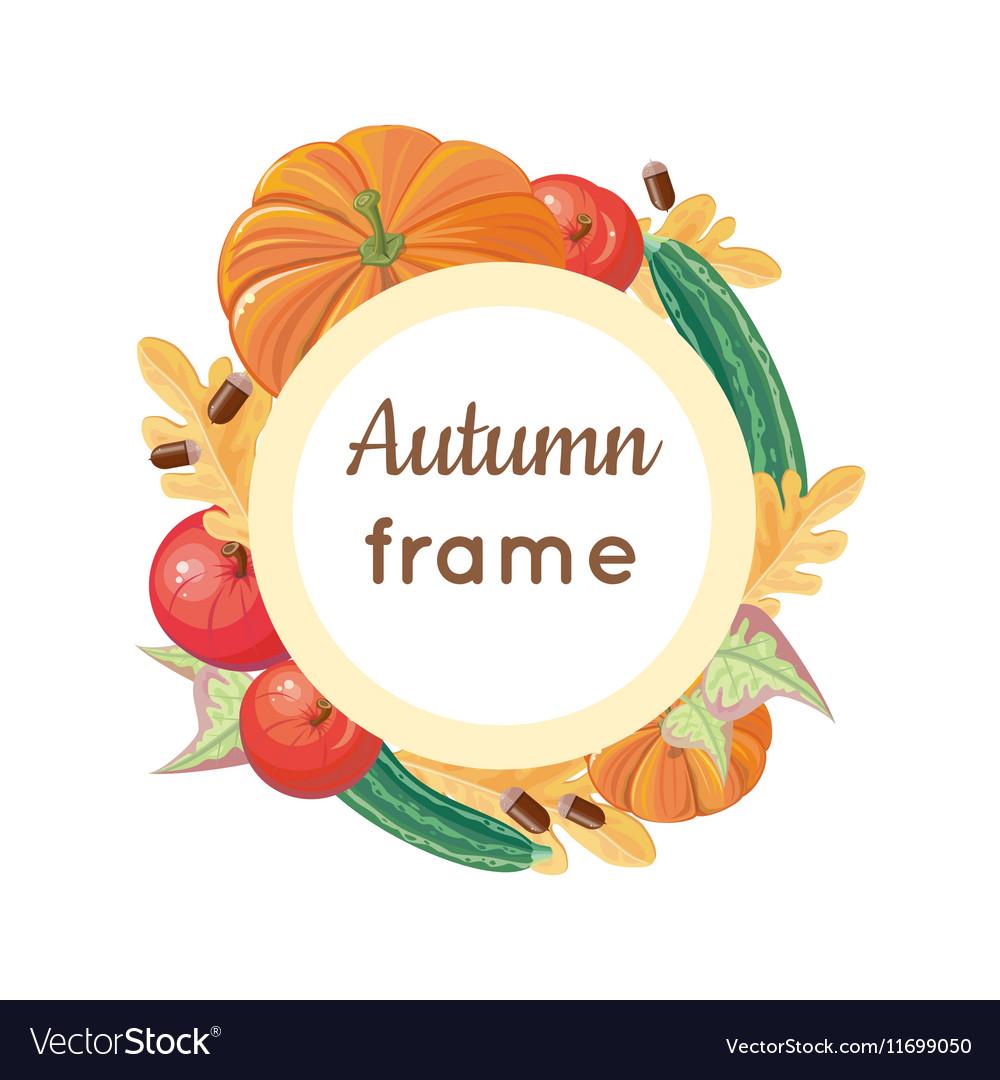 Autumn Frame Concept in Flat Design