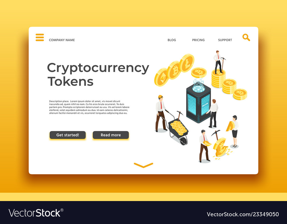 Blockchain and cryptocurrency landing page