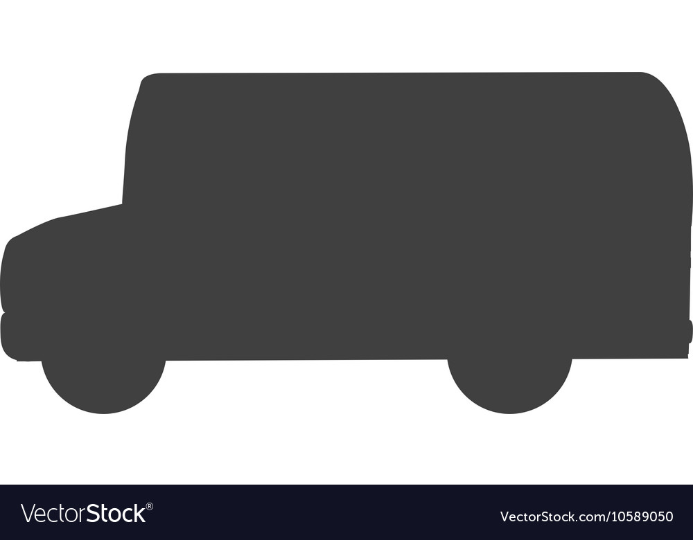 Bus vehicle transport isolated vector image