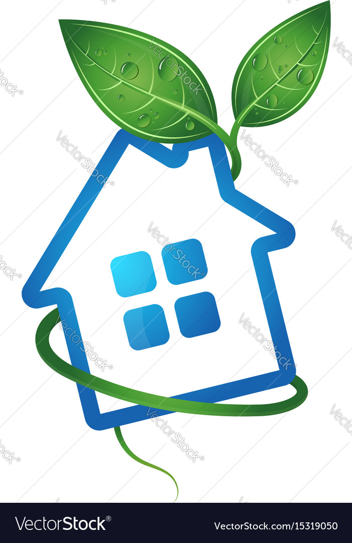 Eco home image vector image