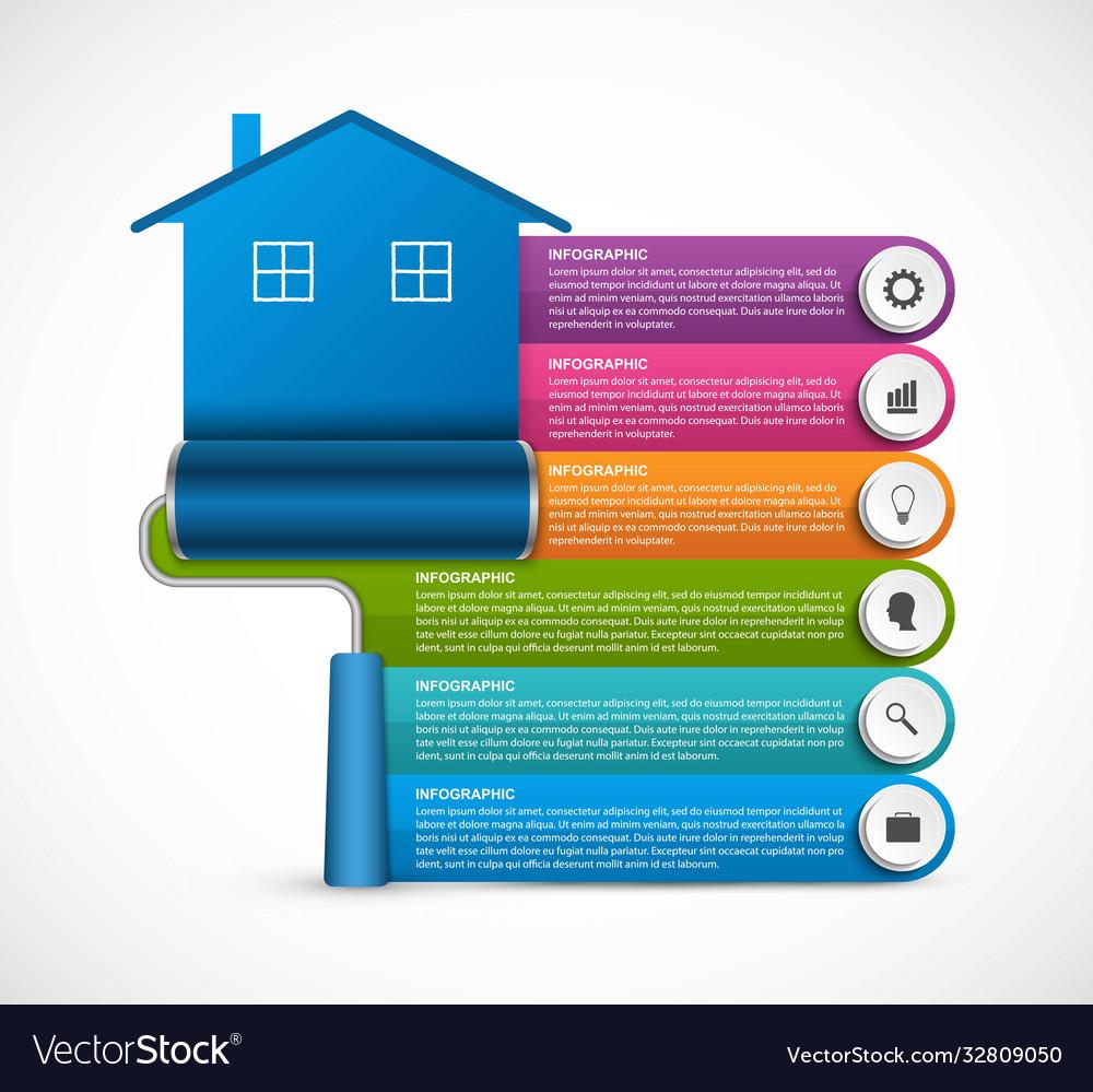 Options infographics design banner house