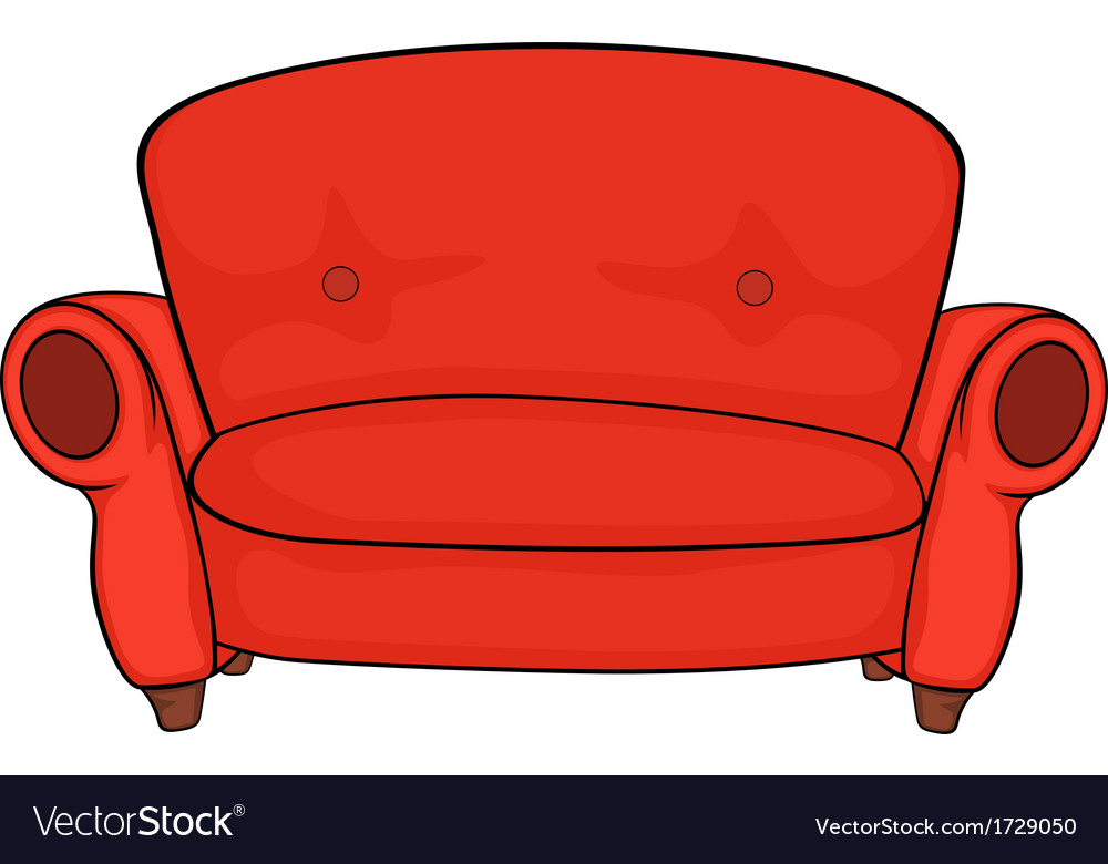 Red Sofa Royalty Free Vector Image Vectorstock