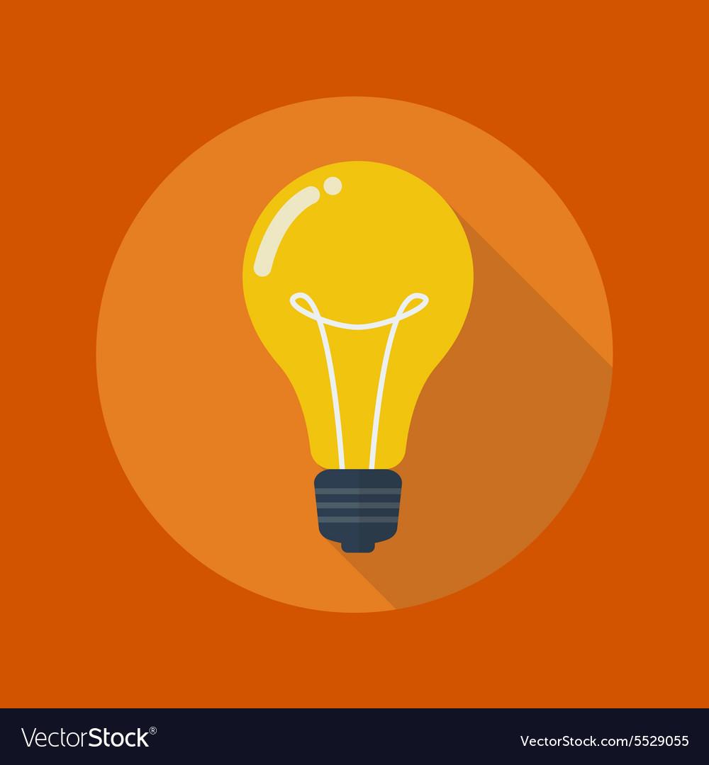 Education Flat Icon Light Bulb vector image