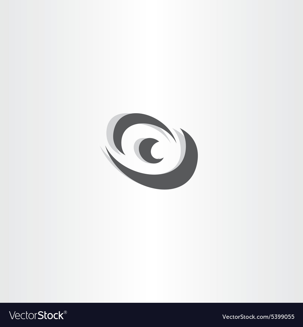 Eye logotype black icon design