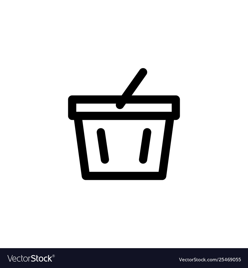 Supermarket basket icon