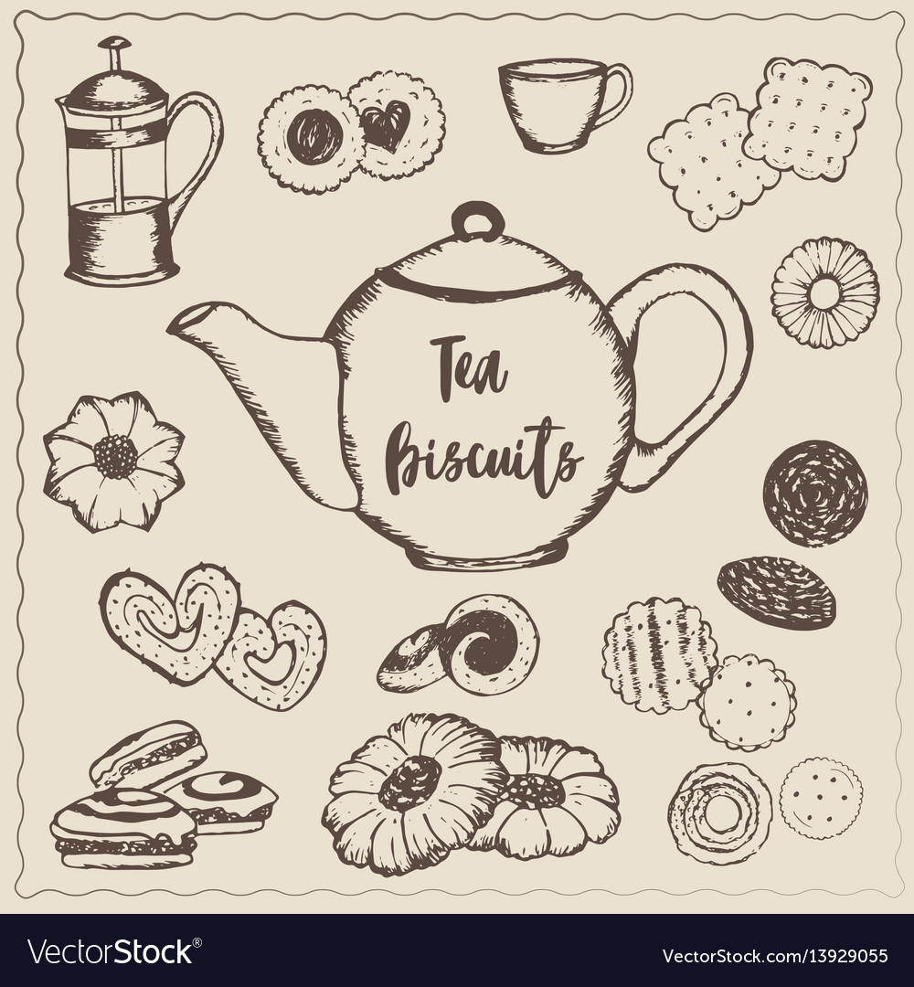 Tea with biscuits