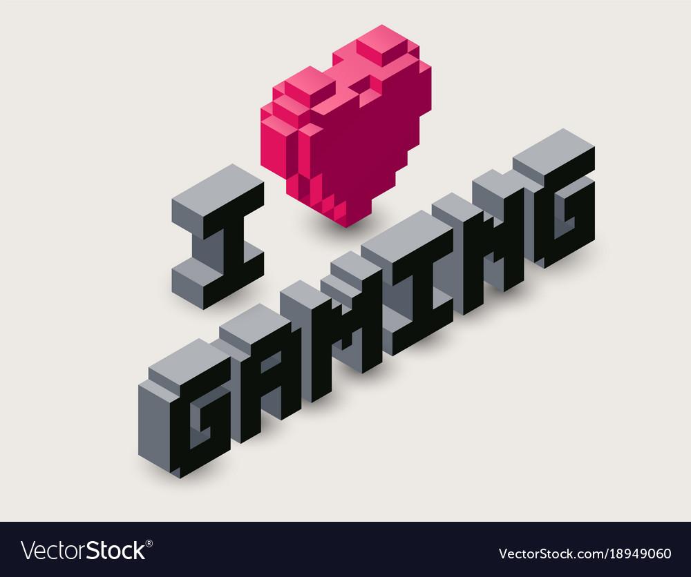 3d gaming pixel icon