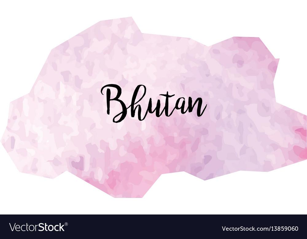 Abstract bhutan map