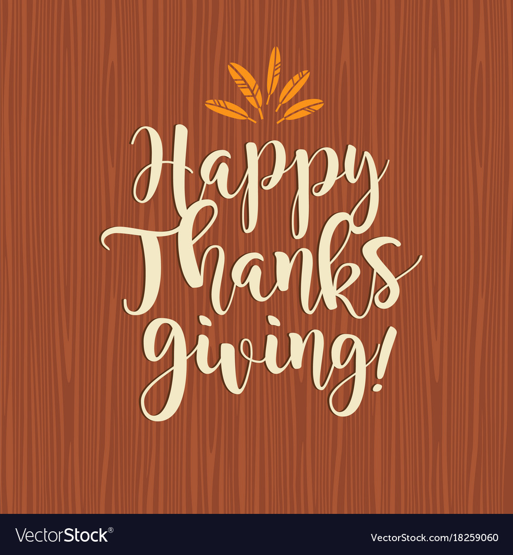 Happy thanksgiving calligraphy design