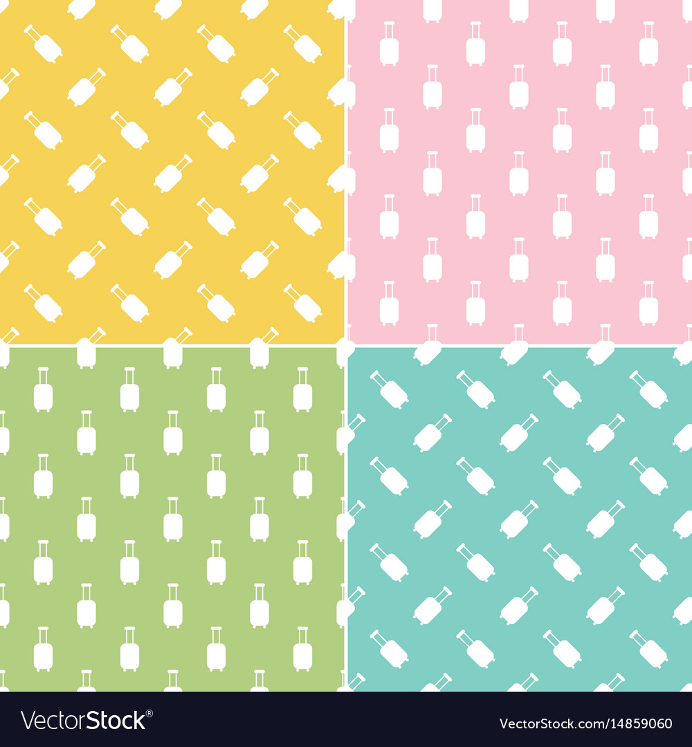 Luggage suitcases seamless pattern background