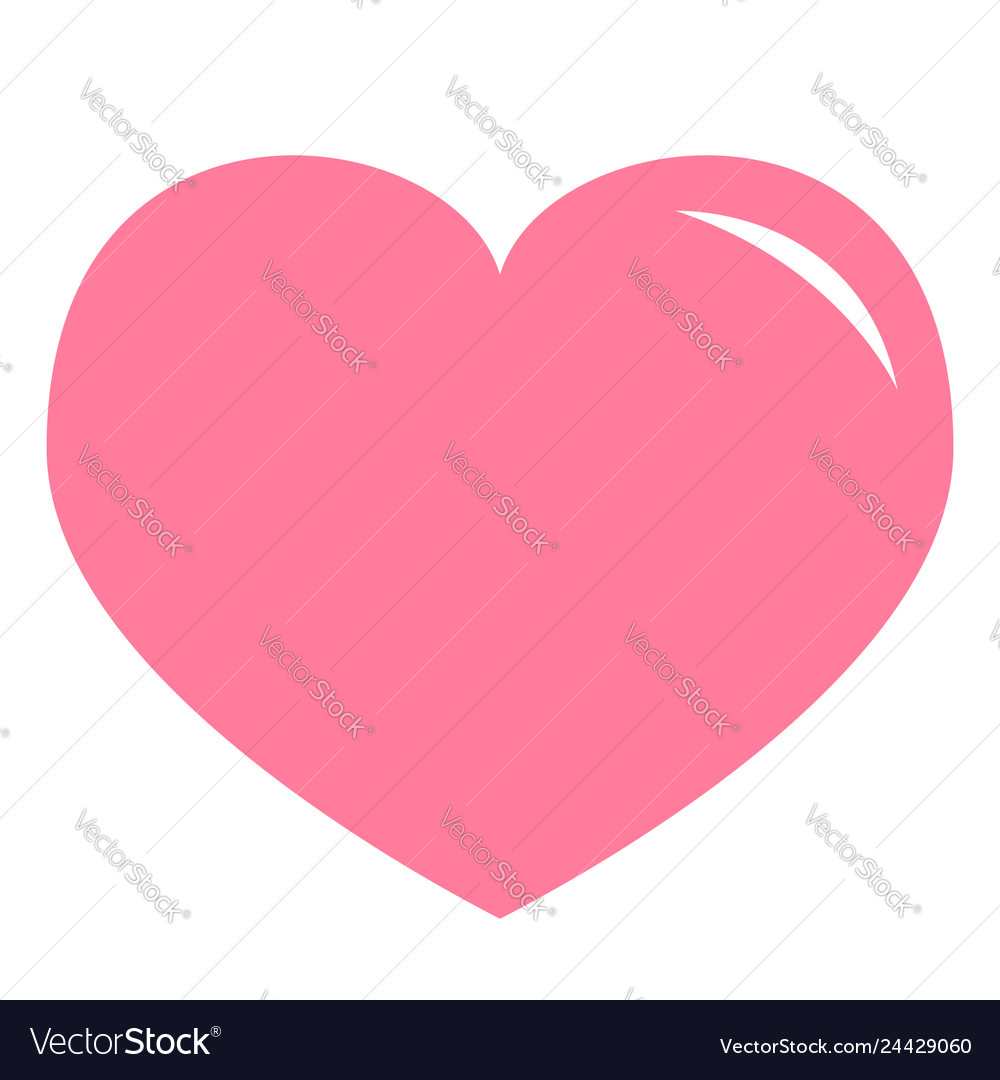 Pink heart shining icon happy valentines day sign