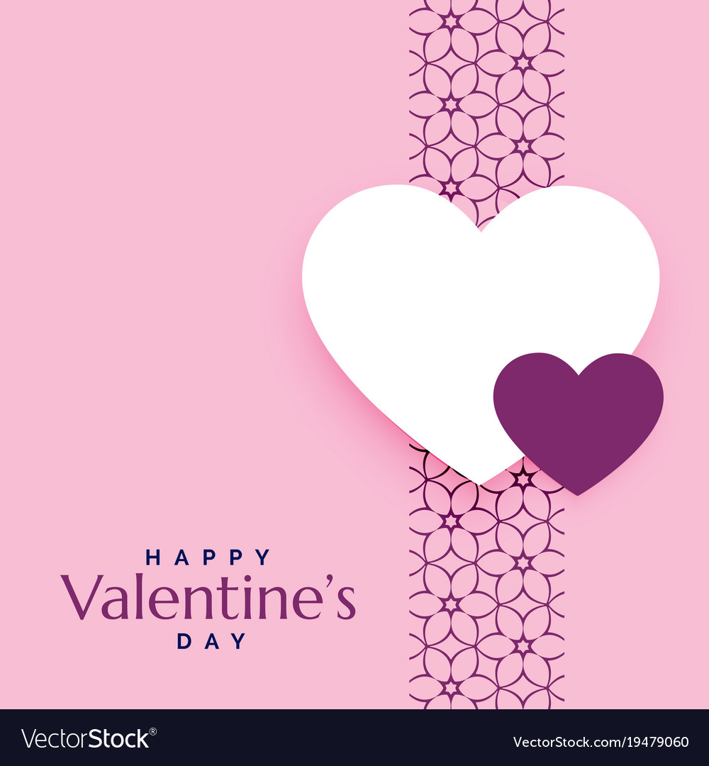 Pink Romantic Love Background For Valentines Day Vector Image