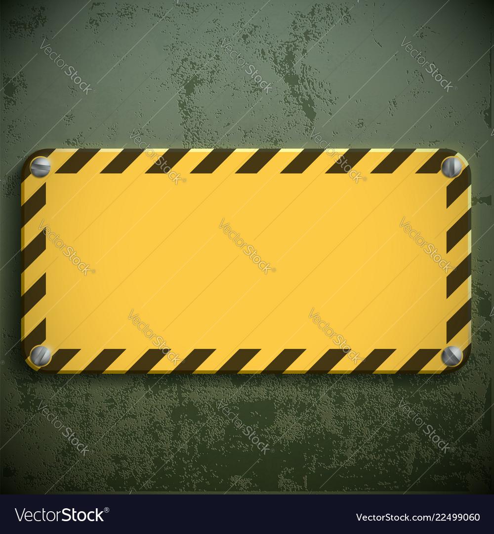 Yellow metal sign