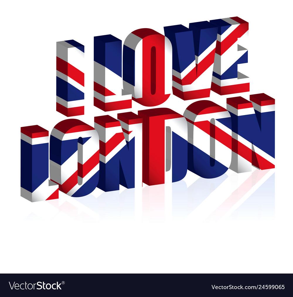 3d uk text or background united kingdom flag