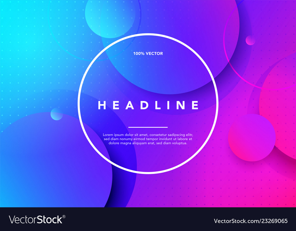Colorful minimal future geometric background