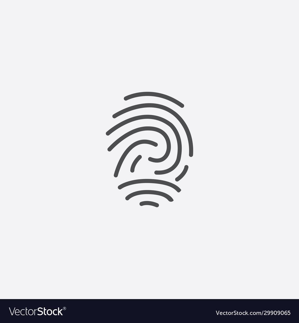 Fingerprint outline icon