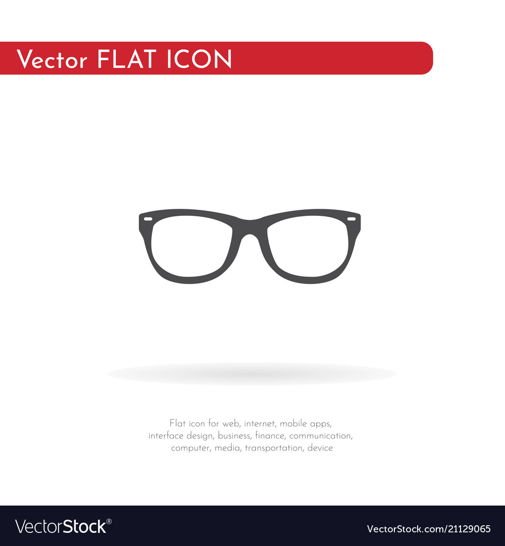 Glasses icon for web business finance and