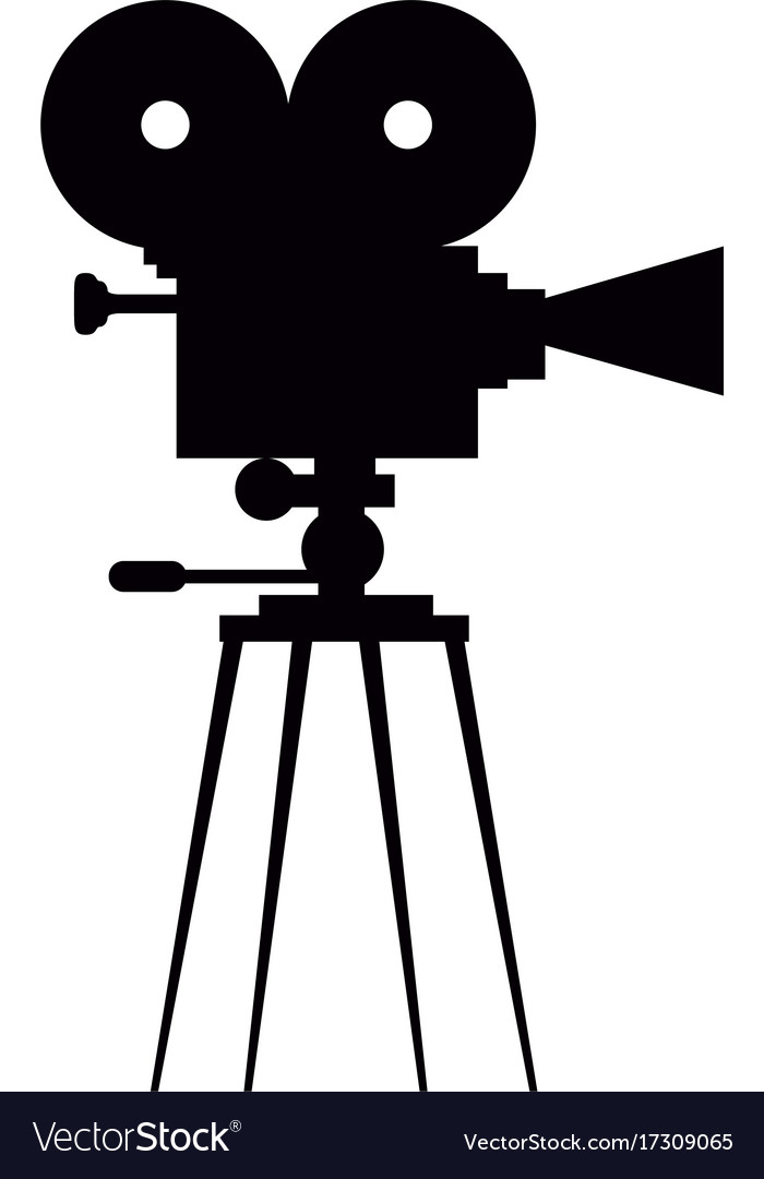 Isolated camera silhouette Royalty Free Vector Image