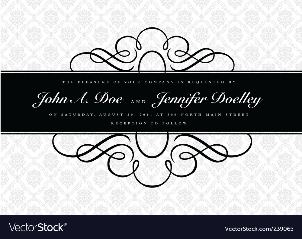 Middle border and pattern vector image