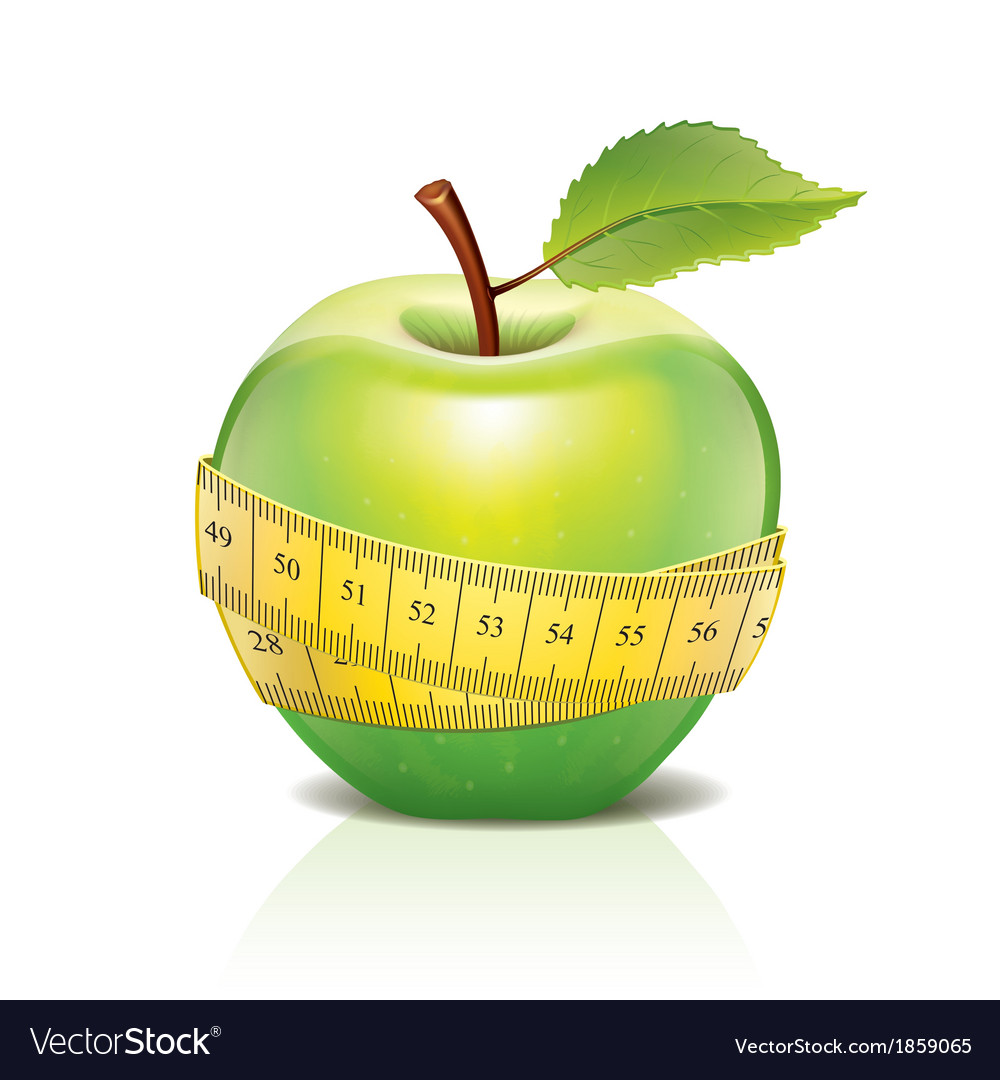 Object green apple tape