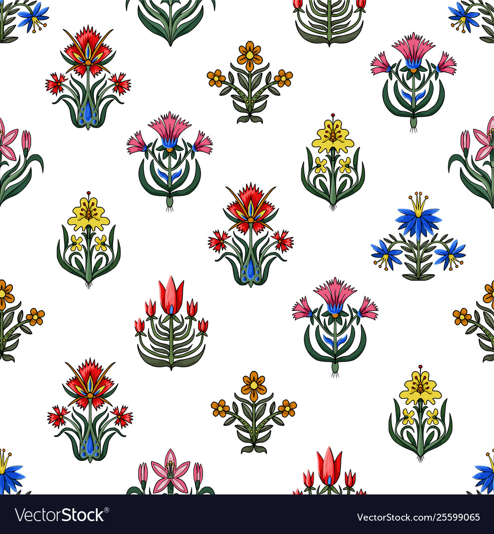Seamless pattern with little flowers for fabric or