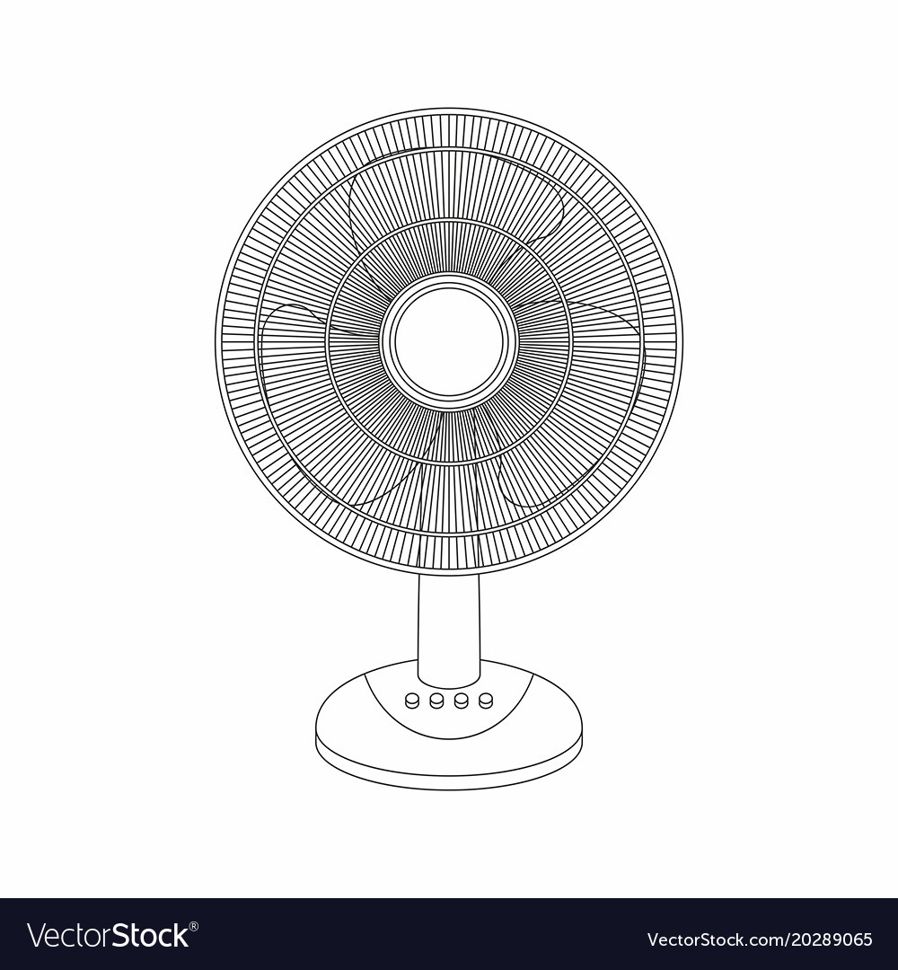 Table Fan Thin Line Style Royalty Free Vector Image Diagram All Picture
