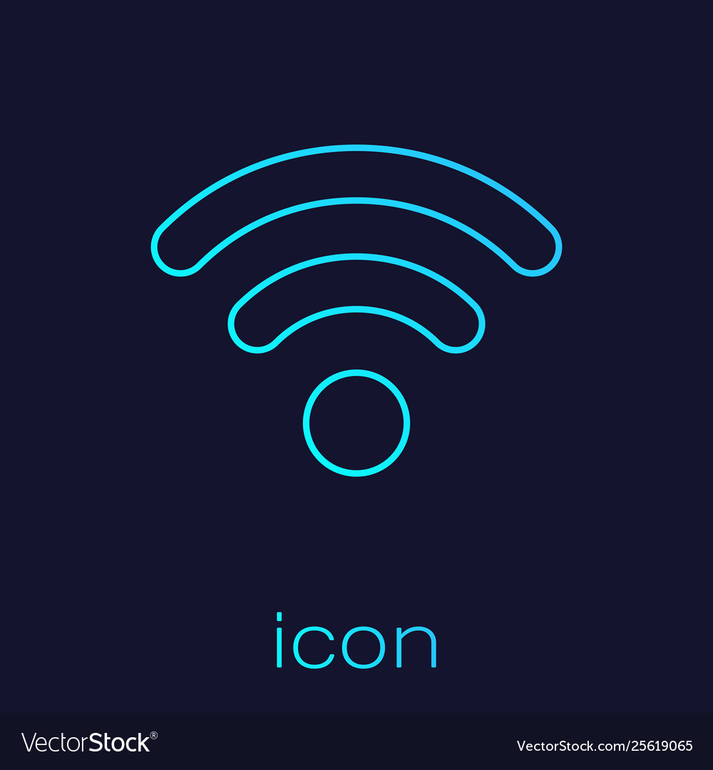 Turquoise wi-fi wireless internet network symbol
